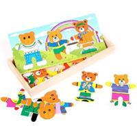 Đồ chơi gỗ xếp hình gia đình gấu AWS0072