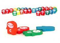 Đồ chơi gỗ Domino dạng bộ chữ cái AYX0007