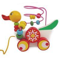 Đồ chơi gỗ xâu chuỗi thông minh dạng xe vịt kéo AYX0046