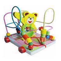 Đồ chơi gỗ thông minh dạng xe kéo gấu AYX0047