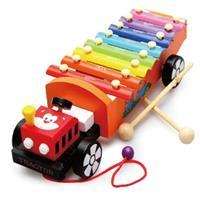 Đồ chơi gỗ hình đàn kết hợp xe kéo AYX0053