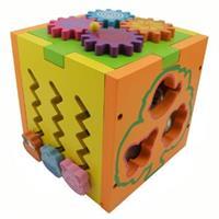 Đồ chơi gỗ giáo dục dạng hộp thả khối AYX0080
