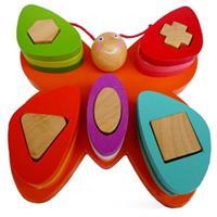 Đồ chơi xếp hình gỗ dạng con bướm AYX0099