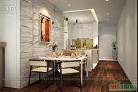 Tủ bếp MDF sơn bệt 1
