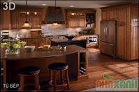 Tủ bếp sồi mỹ 7