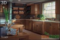 Tủ bếp sồi mỹ 8