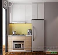 Tủ bếp MFC An Cường+ MDF sơn bệt