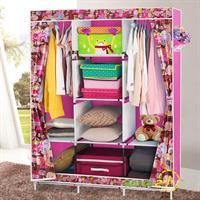 Tủ vải cao cấp 3 buồng 8 ngăn kéo rèm họa tiết mẫu mới