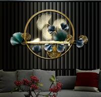 Tranh Sắt Nghệ Thuật Lá Ginkong Nổi Kết hợp đèn Led phát sáng - BH5521 - Cho không gian sang trọng