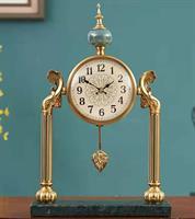 Đồng hồ bàn cao cấp Đồng và Đá Cẩm Thạch BH06