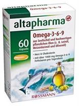 Dầu cá biển altapharma Omega-3-6-9 Kapseln