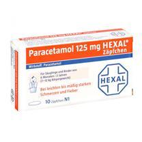 Thuốc nhét hậu môn hạ sốt Paracetamol Hexal 125mg Zäpchen