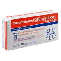 Thuốc nhét hậu môn hạ sốt paracetamol Hexal 250mg  Zäpchen