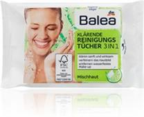 Giấy ướt tẩy trang Balea Klarede Reinigungs tucher 3in1