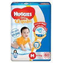 Bỉm - Tã quần Huggies size M - 60...