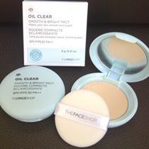 Phấn phủ kiềm dầu Oil Clear Smooth & Bright Pact SPF30 PA++ The Face Shop 9g