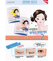 Hộp 25 miếng x 10 cặp dán kích mí trong suốt Vacosi Eyelid Tape