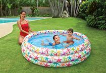 Bể bơi phao 3 tầng 1.68m x 41cm tròn hoa văn đại dương + tặng kèm bơm điện