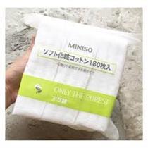 Bông tẩy trang Miniso Nhật Bản 180 miếng