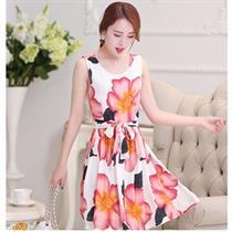 Đầm xòe hoa mẫu đơn quý phái