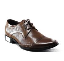 Giày công sở cho nam màu nâu bóng đẳng cấp hàng hiệu (VI-BD2526N)
