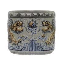 Bát hương Rồng nổi - men rạn cổ - đường kính 18 - cao 16 cm