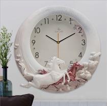 Đồng hồ trang trí nghệ thuật điêu khắc nổi ZB01A - Mã Đáo Thành Công