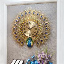 Đồng hồ treo tường nghệ thuật Chim công may mắn -BH923V-80