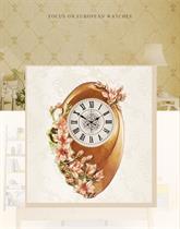 Đồng hồ trang trí nghệ thuật Điêu khắc nổi Hoa Lan BH8076 - Tình yêu, Sắc đẹp, Quyến rũ và Trường sinh