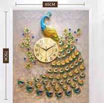 Đồng Hồ Treo Nghệ thuật Chim Công Đậu Cành mai H916-2