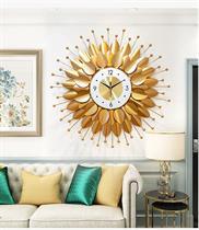 Đồng Hồ Trang trí Nghệ Thuật Lá Vàng - BH2105