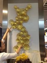 Tranh Sắt nghệ thuật lá sen mạ vàng cao cấp
