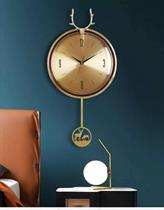 Đồng hồ lắc Đôi Tuần Lộc Chất liệu đồng BH8012