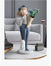 Decor trang trí - Cô Gái và Bình Hoa Size 76cm