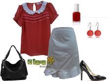 Set áo đỏ bi trẻ trung (A491 + V171)