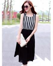 Đầm sọc đen