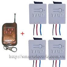 Gói 4 rơ le RC5H và 01 remote RM04