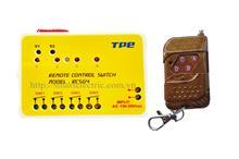 Home kit 3: 01 rơle điều khiển từ xa 4 thiết bị bằng sóng radio RC5G4 và 01 điều khiển RM04