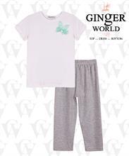 Áo thun trắng tai thỏ + Quần Legging cho bé gái GINgER WORLD