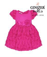Đầm dự tiệc hồng hoa HQ203_HS GINgER WORLD