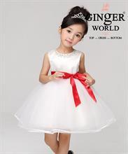 Đầm dạ hội tiểu thư Tama ( viên ngọc đỏ ) HQ467 GINgER WORLD