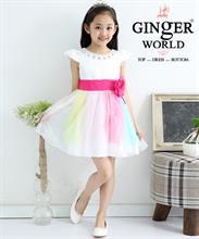 Đầm dạ hội nữ thần Iris ( cầu vồng lấp lánh ) HQ466_HS GINgER WORLD