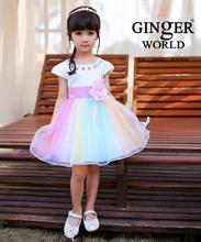 Đầm dạ hội nữ thần Iris ( cầu vồng lấp lánh ) HQ466_HP GINgER WORLD