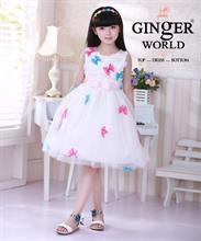 Đầm dạ hội spring butterfly ( cánh bướm vườn xuân ) HQ469 GINgER WORLD