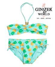 Đồ bơi cho bé gái họa tiết trái cây, màu xanh SW-2PTT