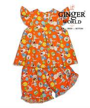 Đồ Bộ Mặc Nhà cho Bé DN016 GINgER WORLD