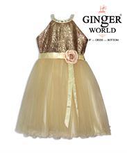 Đầm Dự Tiệc Kim Sa Lấp Lánh HQ510 GINgER WORLD