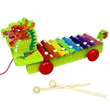 Đồ chơi gỗ dạng xe kéo con rồng YX0050
