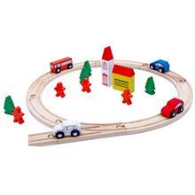Đồ chơi gỗ dạng xếp hình đường ray YX0042