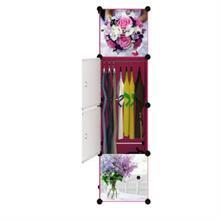 Tủ nhựa thông minh cao cấp màu trắng 4 tầng 3 ngăn - TN0022